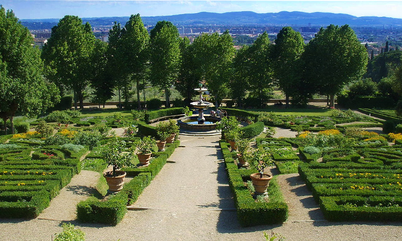 The Medicean Garden of Villa Petraia. Tuscany