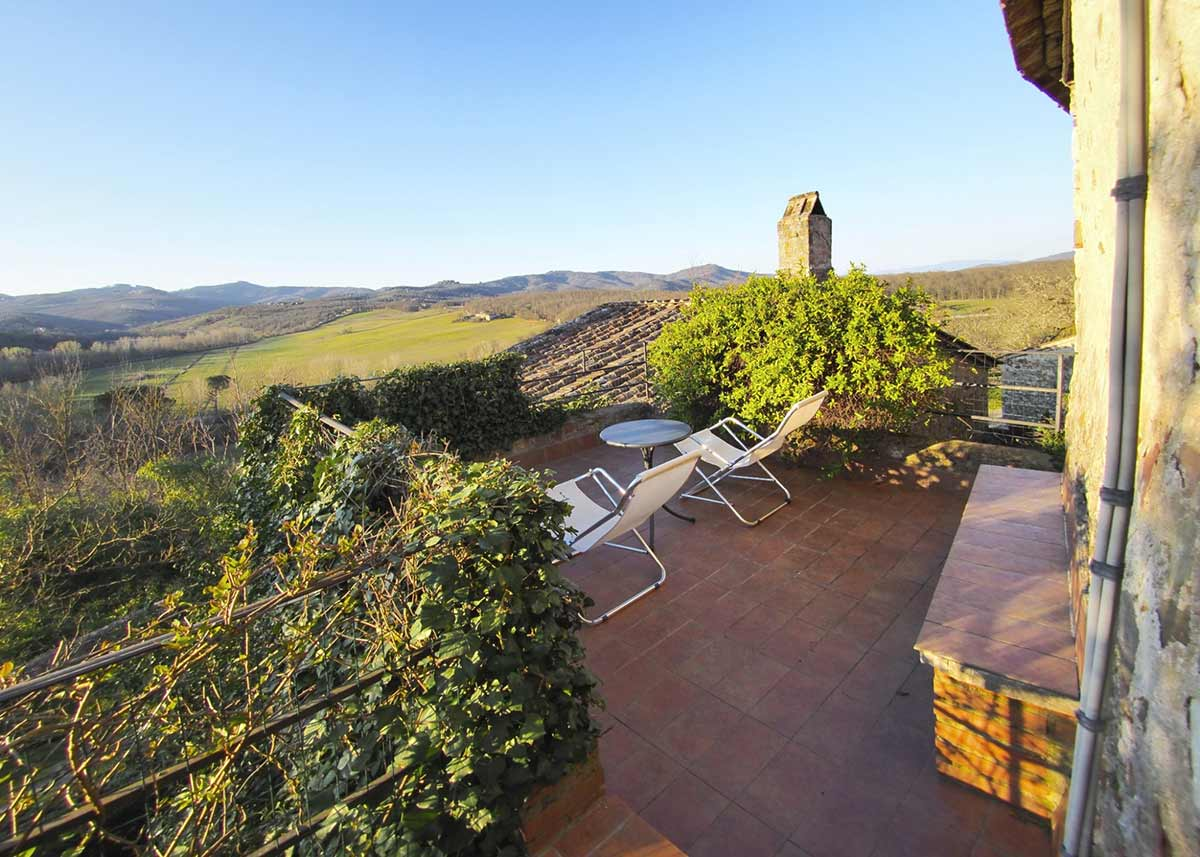 Casa Da Guardia: panoramic view on the Chianti hills.