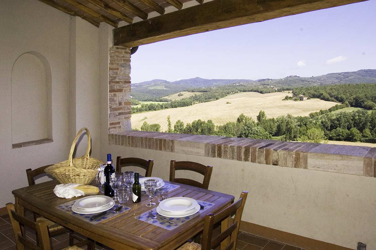 La Loggia: large 4 bedrooms villa overlooking the hills of Chianti in Tuscany. italy
