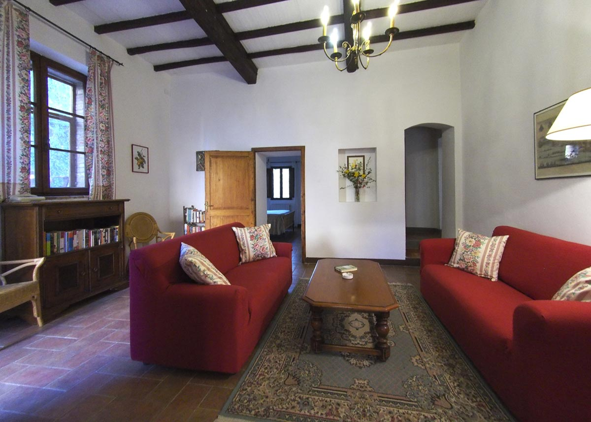 Living room Casa Da Guardia : villas for rent in tuscany italy