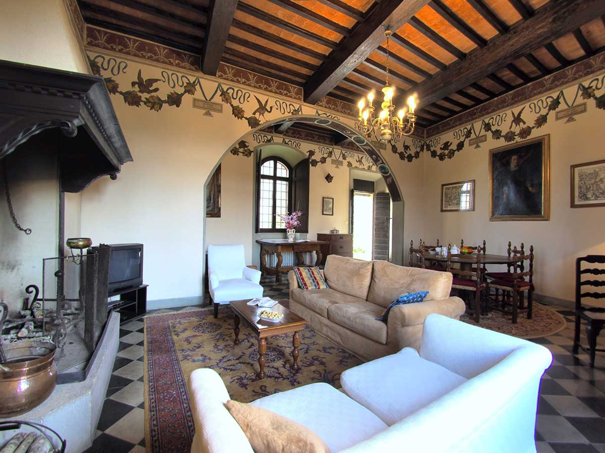 Torre del Vescovo: Internal photograph Villa for rent in Tuscany Italy